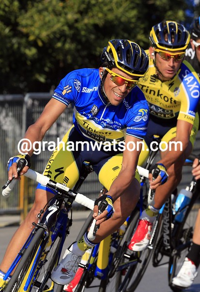 Alberto Contador on Stage 6 of the 2014 Tirreno Adriatico