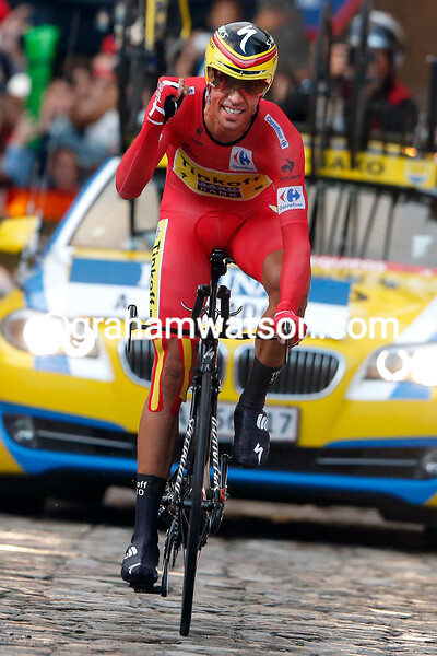 Alberto Contador on stage twenty-one of the 2014 Tour of Spain