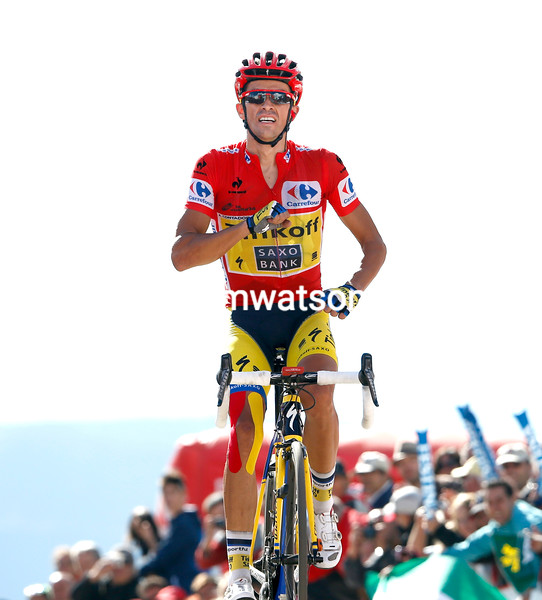 Alberto Contador wins stage twenty of the 2014 Tour of Spain
