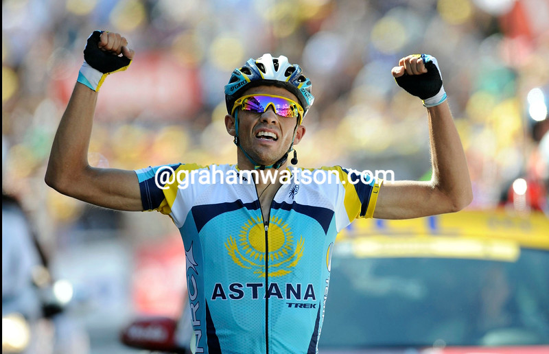 ALBERTO CONTADOR WINS STAGE FIFTEEN OF THE 2009 TOUR DE FRANCE