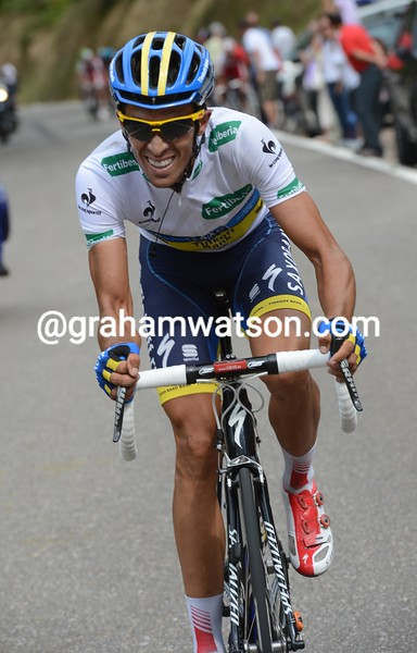 Alberto Contador on stage seventeen of the 2012 Vuelta EspaÒa