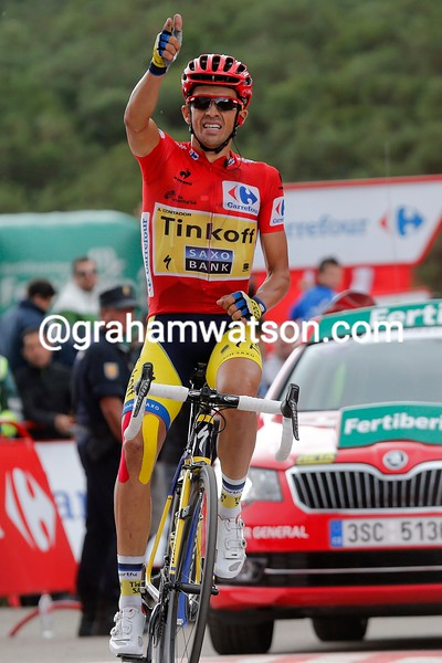 Alberto Contador wins Stage 16 of the 2014 Tour of Spain