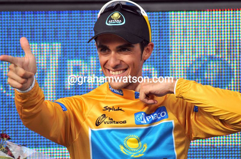 ALBERTO CONTADOR ON STAGE EIGHTEEN OF THE 2008 TOUR OF SPAIN