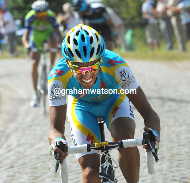 ALBERTO CONTADOR ON STAGE THREE OF THE TOUR DE FRANCE