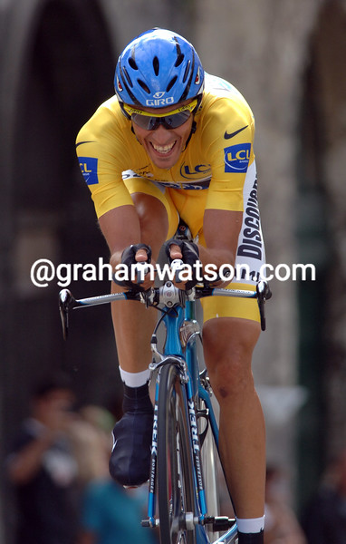 ALBERTO CONTADOR ON STAGE EIGHTEEN OF THE 2007 TOUR DE FRANCE