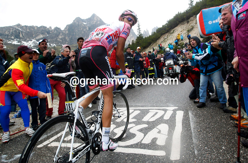 Alberto Contador ON STAGE FIFTEEN OF THE 2011 GIRO D'ITALIA