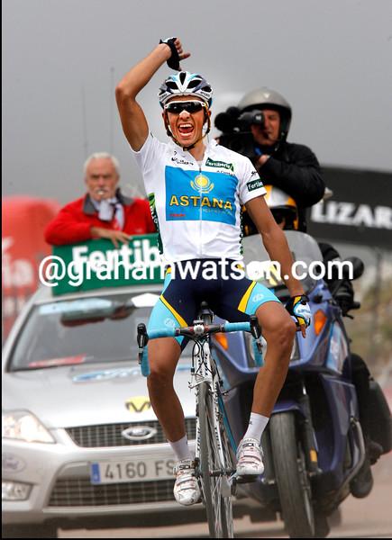 ALBERTO CONTADOR WINS STAGE THIRTEEN OF THE 2008 TOUR OF SPAIN