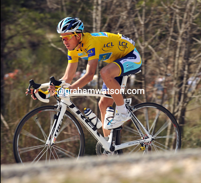 ALBERTO CONTADOR ON STAGE SEVEN OF THE 2009 PARIS-NICE
