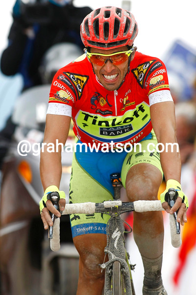 Alberto Contador finishes Stage 4 of the 2015 Tour of Andalucia Ruta Del Sol