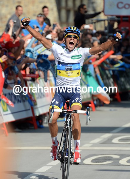 Alberto Contador wins stage seventeen of the 2012 Vuelta EspaÒa