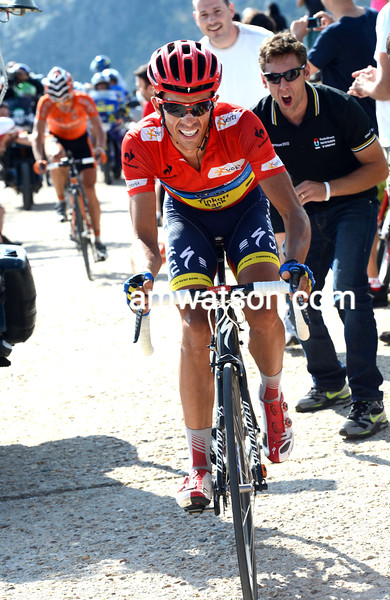 Alberto Contador on stage 20 of the 2012 Vuelta EspaÒa