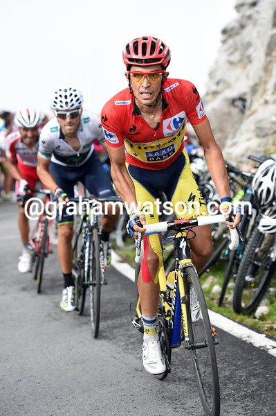 Alberto Contador on stage fifteen of the 2014 Tour of Spain