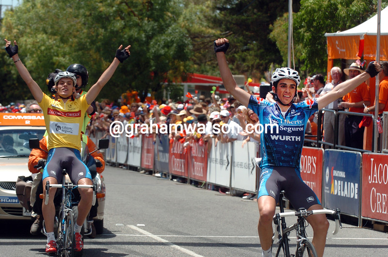 Alberto Contador wins stage five of the 2005 Tour Down Under
