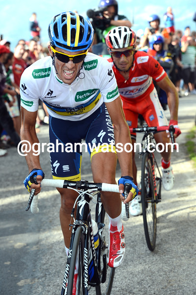 Alberto Contador on stage fifteen of the 2012 Vuelta España