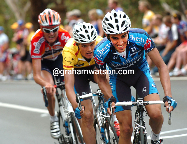 Alberto Contador on stage five of the 2005 Tour Down Under