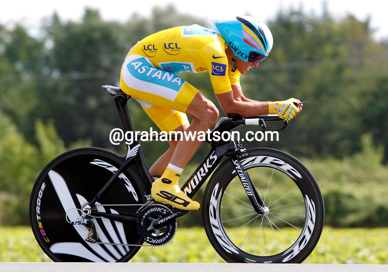 ALBERTO CONTADOR ON STAGE NINETEEN OF THE TOUR DE FRANCE