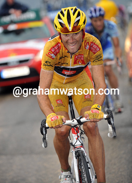 ALEJANDRO VALVERDE ON STAGE FOURTEEN OF THE 2009 TOUR OF SPAIN