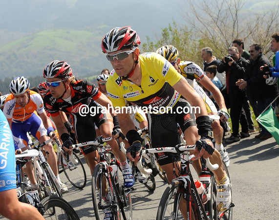 ALEJANDRO VALVERDE ON STAGE FIVE OF THE TOUR OF THE BASQUE COUNTRY