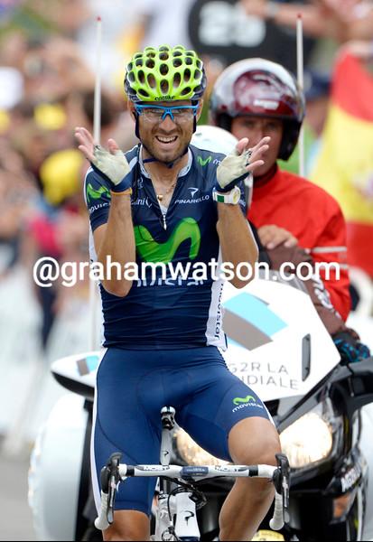 Alejandro Valverde wins stage seventeen of the 2012 Tour de France
