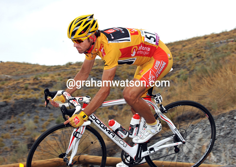 ALEJANDRO VALVERDE ON STAGE TWELVE OF THE 2009 TOUR OF SPAIN
