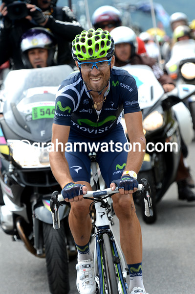 Alejandro Valverde escapes on stage seventeen of the 2012 Tour de France