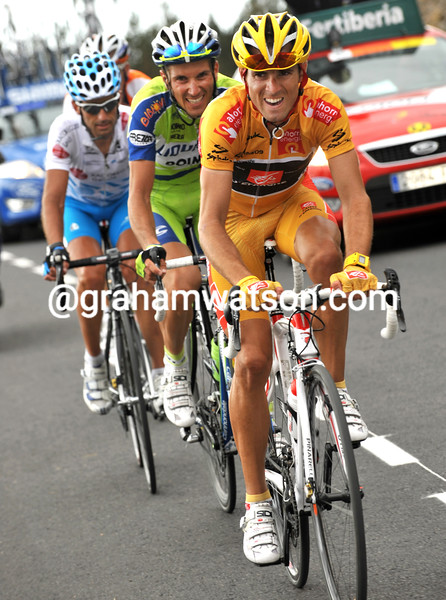 ALEJANDRO VALVERDE ON STAGE THIRTEEN OF THE 2009 TOUR OF SPAIN