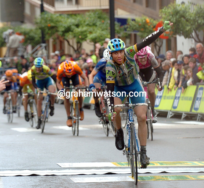 ALEJANDRO VALVERDE IN THE 2004 TOUR OF Valencia