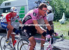 Alex Zulle leads Miguel Indurain on a stage to Les Arcs in the 1996 Tour de France