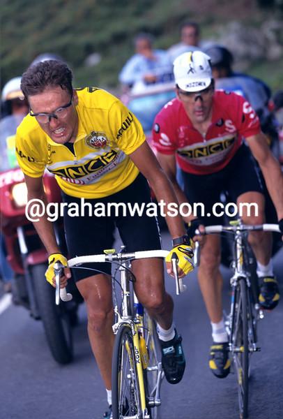 Alex Zulle in the 1996 Tour of Spain
