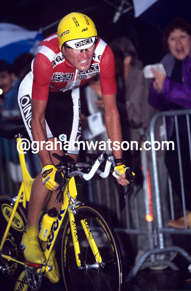 Alex Zulle wins the 1996 World Time Trial Championship