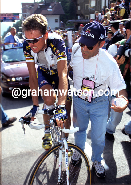 Alex Zulle in the 1998 Giro d'Italia