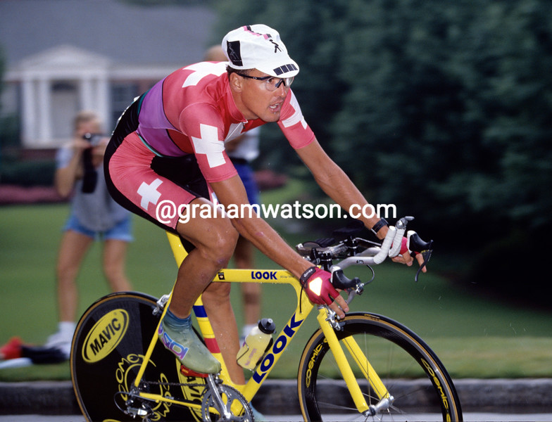 Alex Zulle in the 1996 Olympic Games