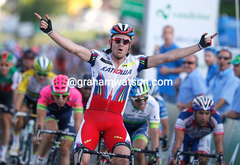 Alexandre Kristoff wins the 2015 Tour of Aargau-Gippingen