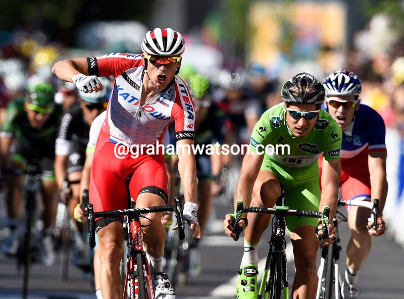 Alexander Kristoff wins stage twelve of the 2014 Tour de France