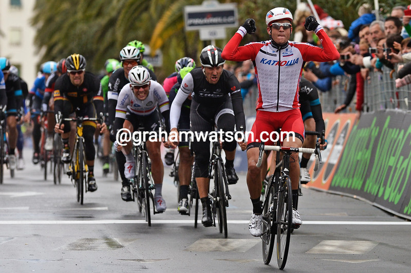 Alexander Kristoff wins the 2014 Milan-San Remo..!