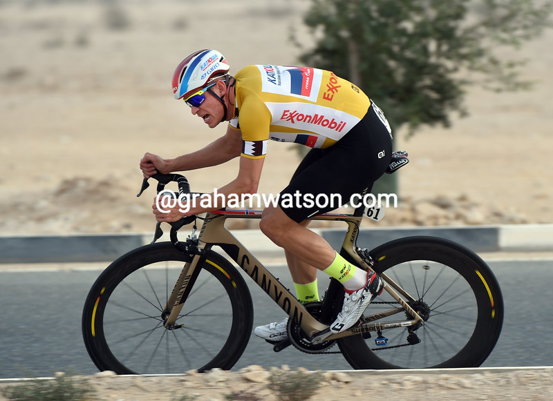 Alexander Kristoff on stage three of the 2015 Tour of Qatar