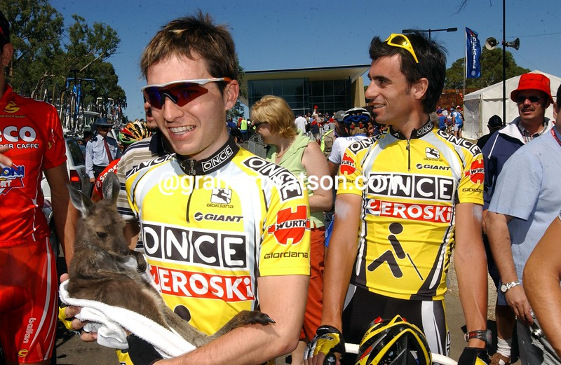 Allan Davis on a stage of the 2000 Tour Down Under
