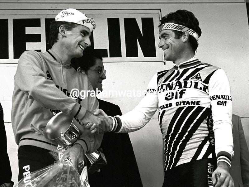 ALLAN PEIPER AND BERNARD HINAULT AFTER WINNING THE 1981 G.P.DES NATIONS