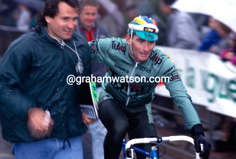 Allan Peiper with Rupert Guinness in 1991
