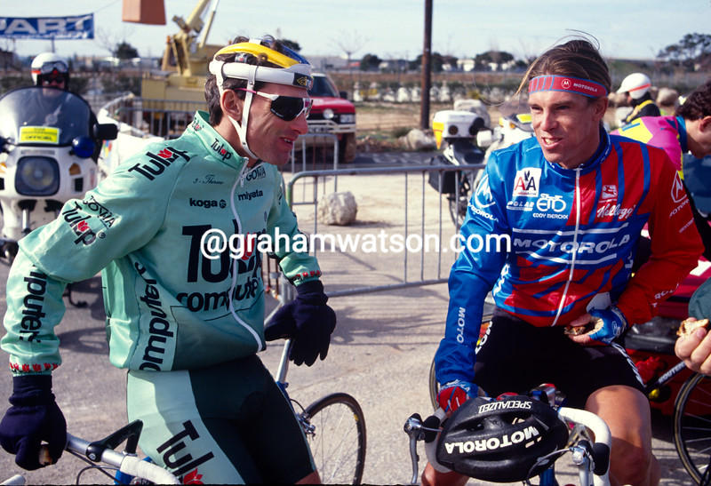 Allan Peiper and Phil Anderson in the 1991 Paris-Nice