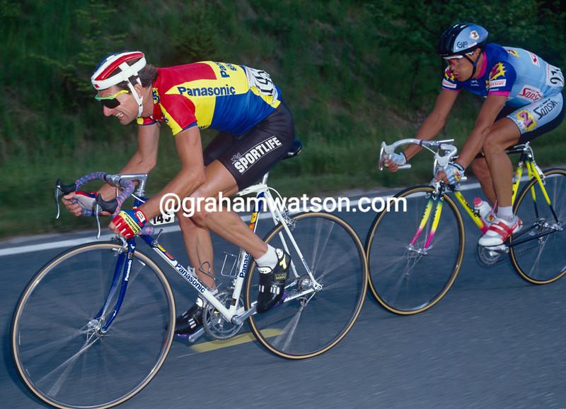 Allan Peiper in the 1990 Giro d'Italia