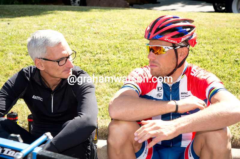 Allan Peiper and Thor Hushovd at the 2010 Tour of California