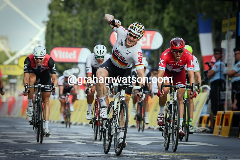 Andre Greipel on stage 21 of the 2016 Tour de France