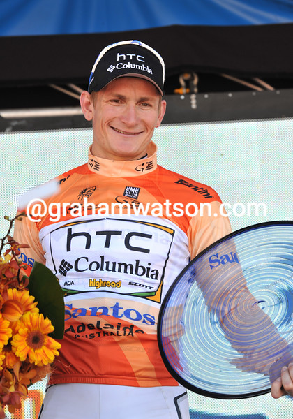 He's smiling now - Andre Greipel has taken out his second Tour Down Under in three years...