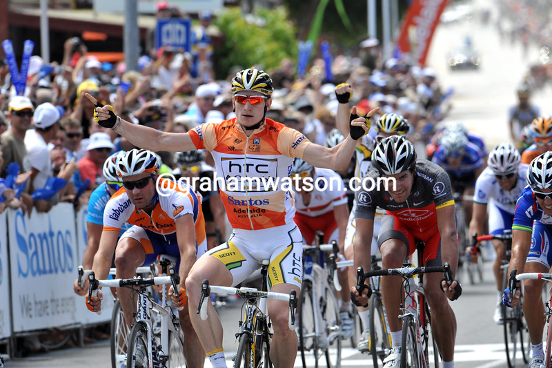 Andre Greipel wins stage four ahead of McEwen and Brown - Shack's Gert Steegmans takes 4th...