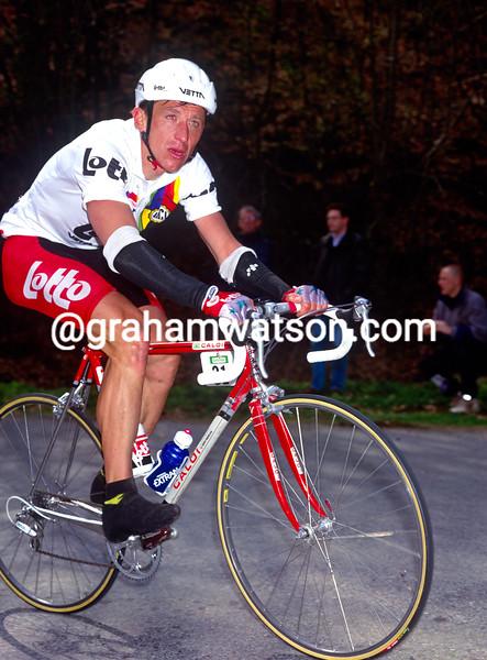 Andre Tchmil in the 1994 Liege-Bastogne-Liege