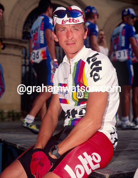 Andre Tchmil in the 1994 Paris-Tours