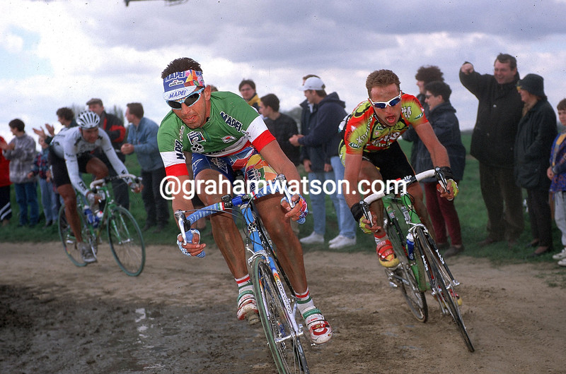 Andrea Tafi in the 1999 Paris-Roubaix
