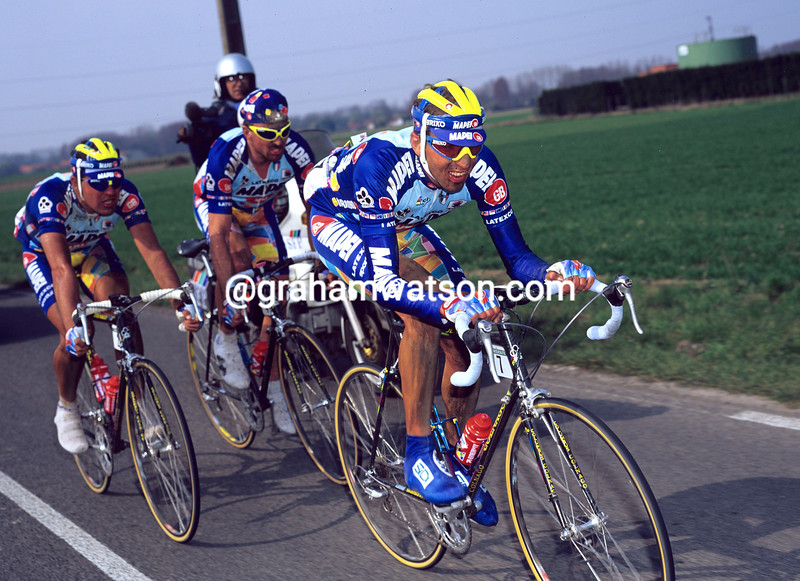 Andrea Tafi in the 1996 Paris-Roubaix