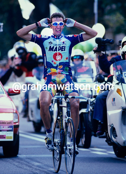 Andrea Tafi in the 1996 Giro di Lombardia